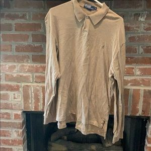Polo Ralph Lauren brown Large long sleeve soft